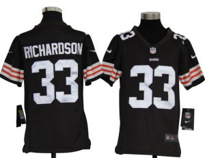 Cleveland Browns 33 Trent Richardson Youth NFL football Jerseys