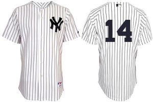 New York Yankees 14 Curtis Granderson Pinstripe Authentic Jerseys